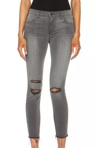 J Brand distressed cropped skinny jeans!